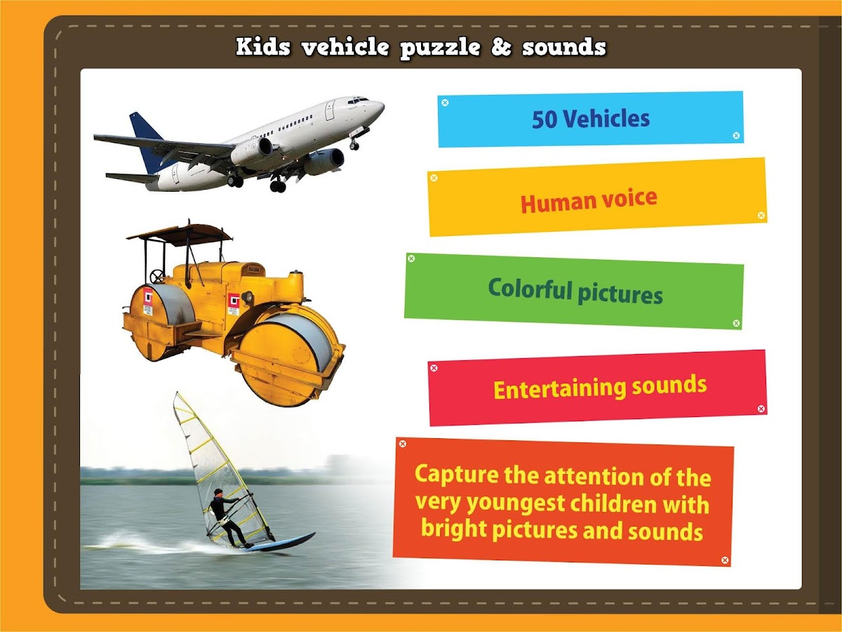 Kids vehicle sound and puzzles- screenshot