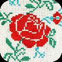 Cross Stitch Flowers icon