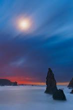 Photo: Moonset