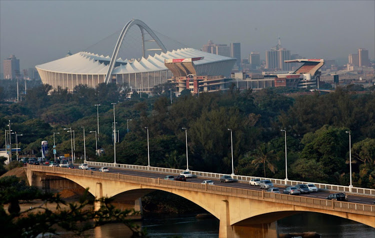 Outside view of the Moses Mabhida Stadium in Durban.