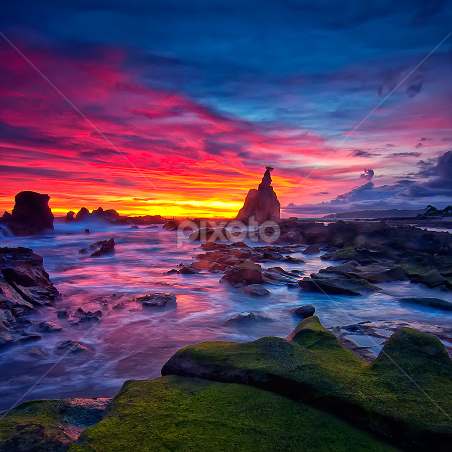 Sawarna #1 by TEDDY ZUSMA - Landscapes Sunsets & Sunrises