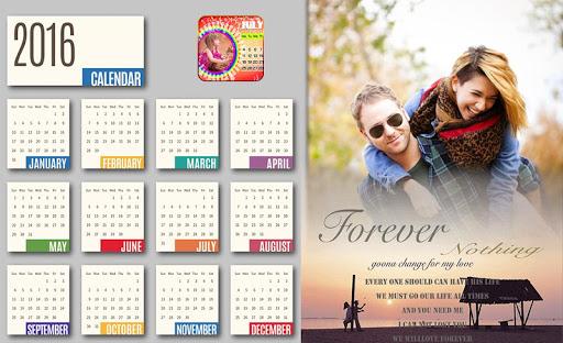 Calendar Photo Frame : 2016