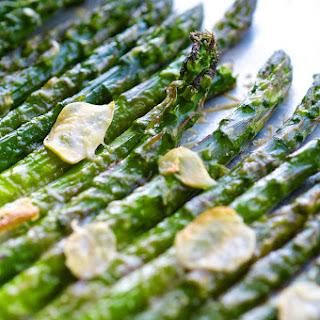 Shaved Garlic Parmesan Asparagus.