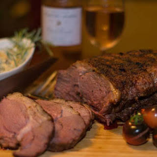 Leg of Lamb Smoked with Olive Wood.