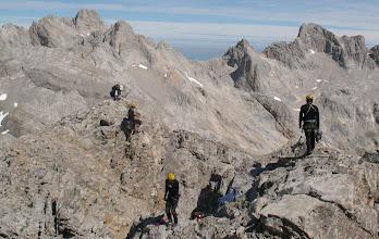 Photo: Bibi avec les alpinistes juste avant le sommet