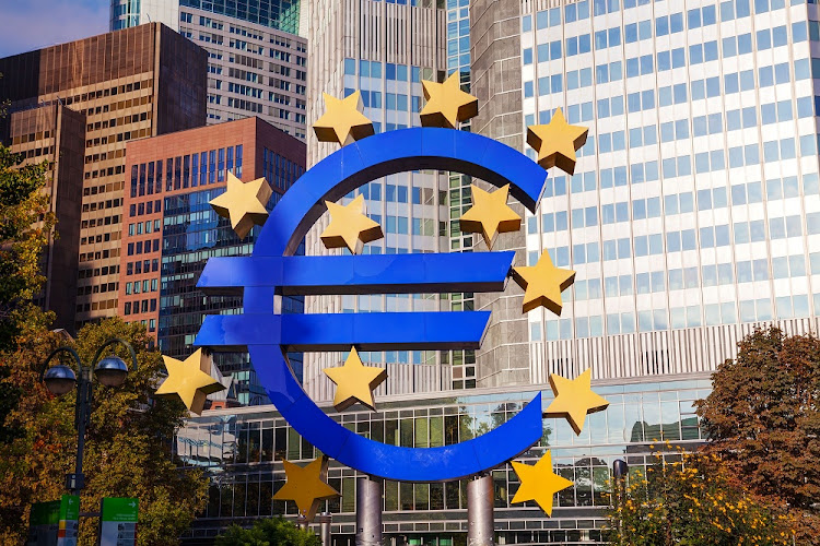 Euro sign in front of the European Central Bank building in Frankfurt, Germany. Picture: ISTOCK
