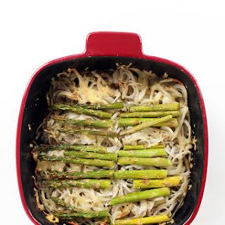 Gruyere and Asparagus Potato Noodle Casserole.