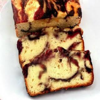 Double Berry Ribbon Swirl Yogurt Pound-like-Cake