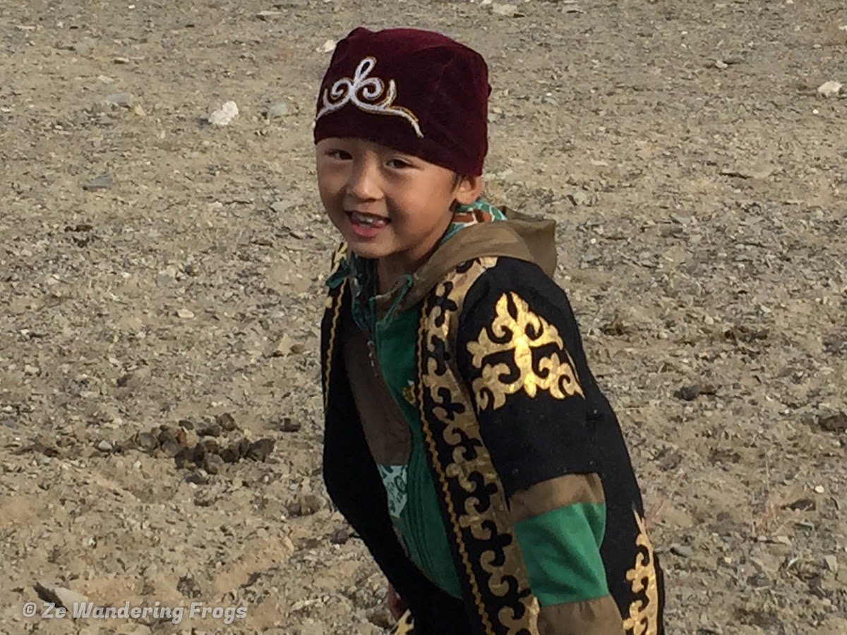 Mongolia. Golden Eagle Festival Olgii. Local young Kazakh