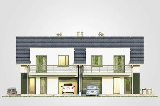 Double House II - Elewacja przednia
