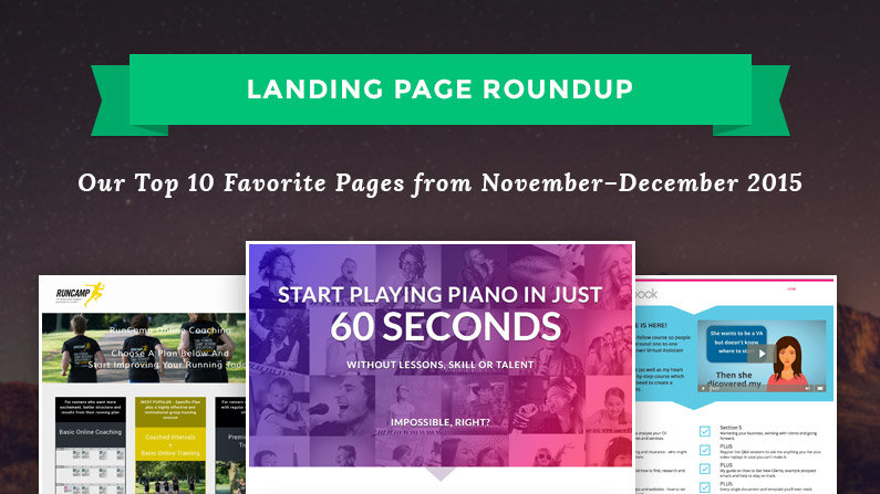 Best Landing Pages of November–December 2015
