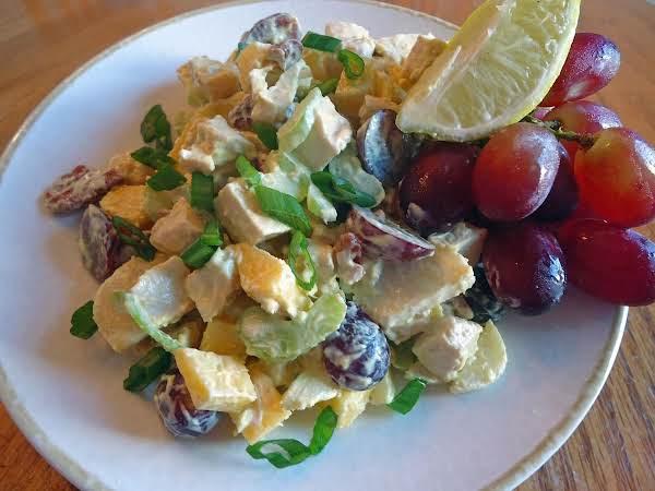 Light And Refreshing Turkey Curry Salad