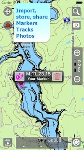 Aqua Map Illinois Lakes GPS- screenshot thumbnail