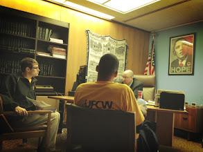 Photo: UFCW 1500 Members meeting with Senator Diaz