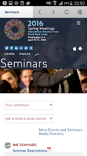 IMF/World Bank Annual Meetings- screenshot thumbnail