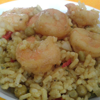 Curried Rice Salad with Shrimp.