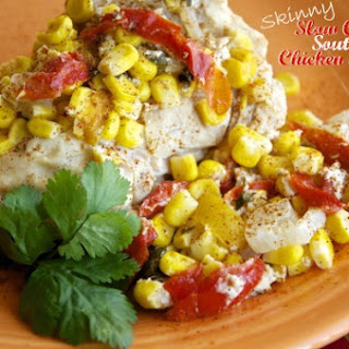 Skinny Slow Cooker Southwestern Chicken and Veggies