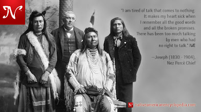 Photo: I am tired of talk that comes to nothing. It makes my heart sick when I remember all the good words and all the broken promises. There has been too much talking by men who had no right to talk. —Joseph (1830 - 1904), Nez Percé Chief