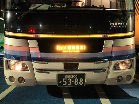 伊予鉄南予バス「道後エクスプレスふくおか号」 5388 めかりPAにて その2