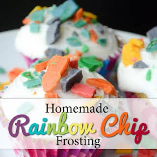 Homemade Rainbow Chip Frosting.