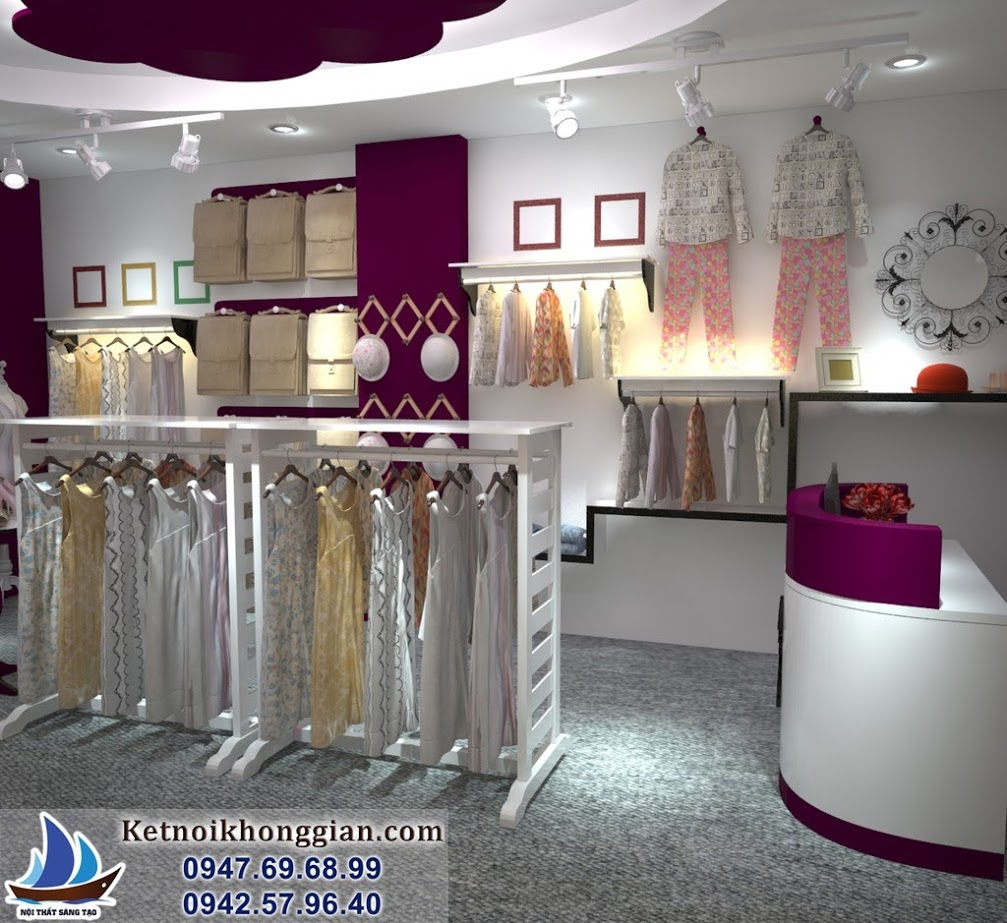 thiết kế shop thời trang nữ hiện đại