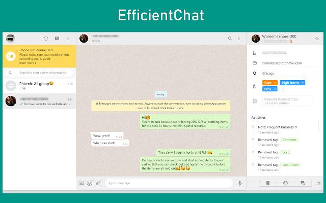 EfficientChat|Whatsapp conversation assistant