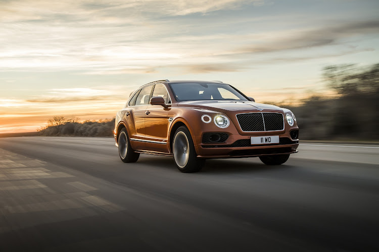 The super-SUV segment just got hotter with the launch of the Bentayga Speed. Picture: SUPPLIED