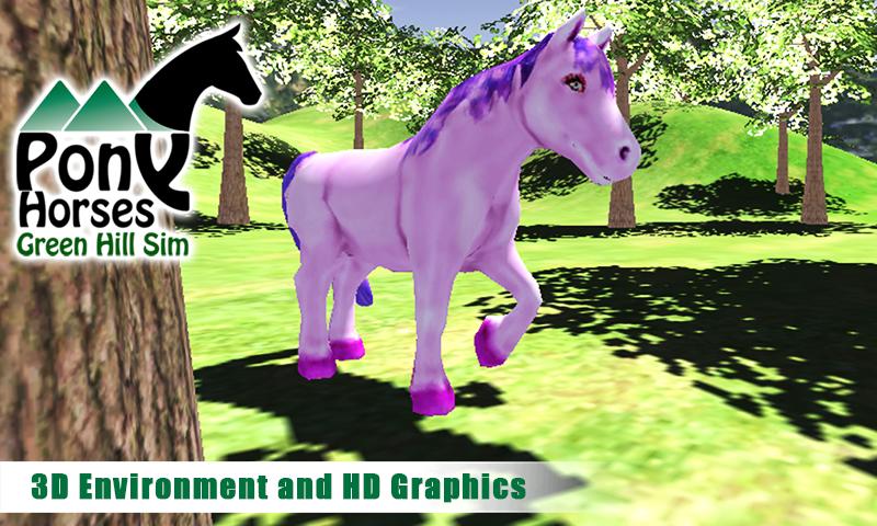 Pony-Horses-Green-Hill-Sim-3D 12