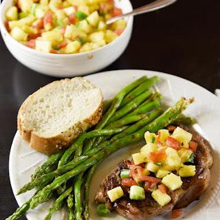Teriyaki Steak with Pineapple Salsa