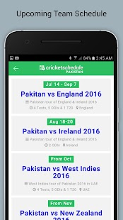 Cricket Schedule 2017- screenshot thumbnail