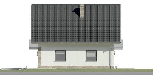 Dom przy Oliwkowej NH - Elewacja lewa