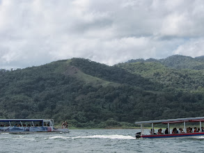 Photo: Crossing Lake Arenal