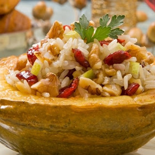 Acorn Squash Stuffed with Walnut-Apple Basmati Pilaf