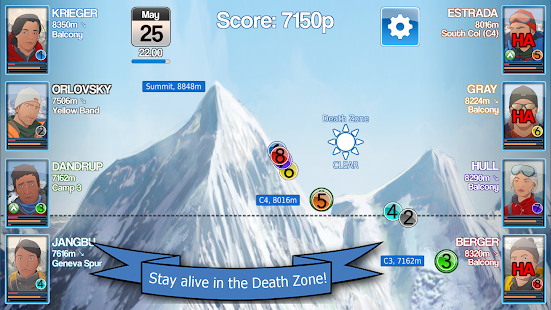 Mount Everest Story - Mountain Climbing Strategy- スクリーンショットのサムネイル