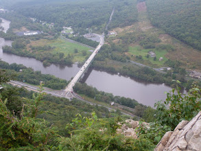 Photo: Lehigh River far below