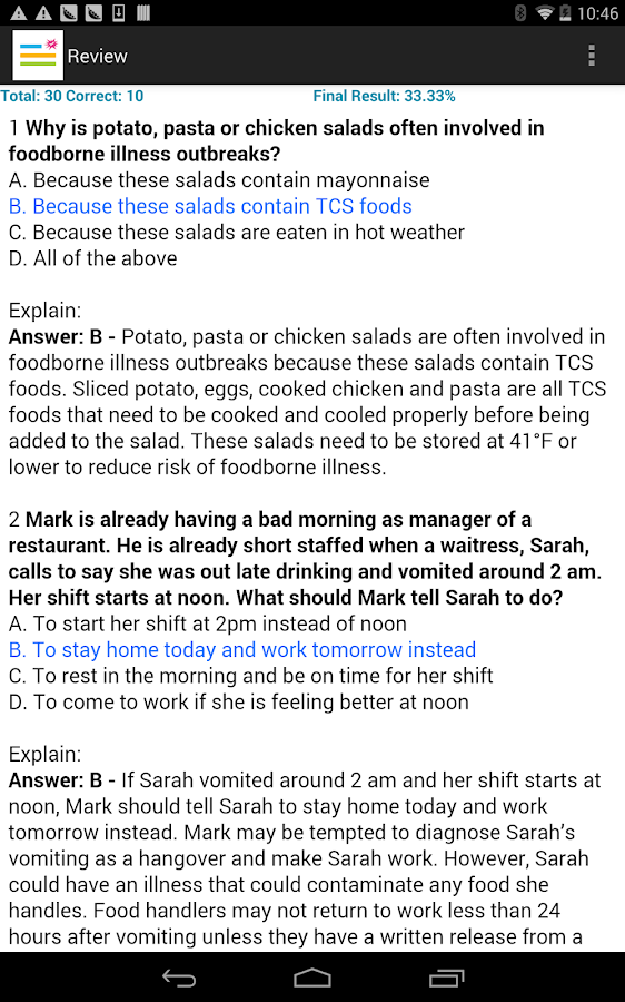 Food Safety Test Prep – Android Apps on Google Play