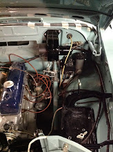 Photo: brake/clutch master cylinder and battery tray installation