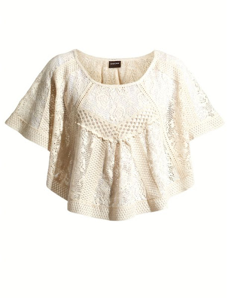 Photo: Pieces Cream Draped Crochet Top £25.99 http://bit.ly/HXzFZm