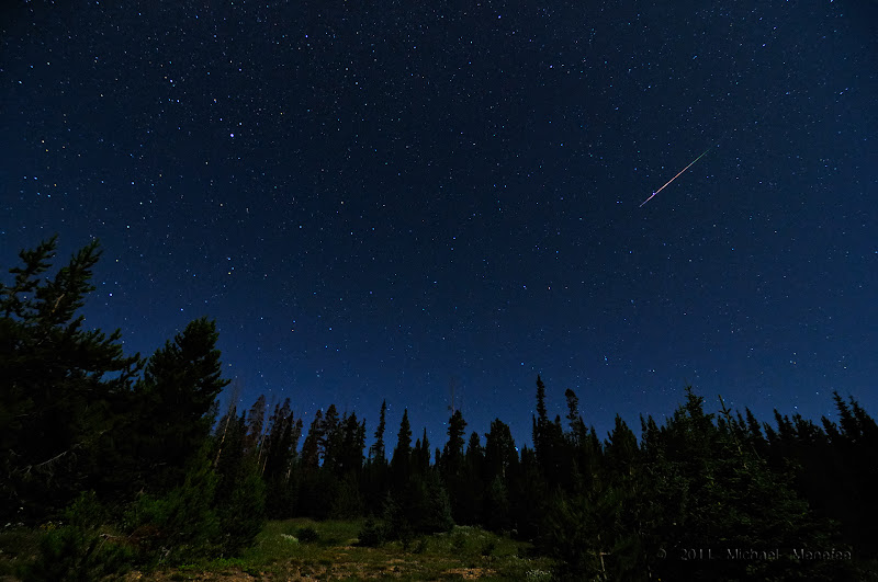 Photo: 2009 Perseid Meteor Shower in the Colorado Rockies