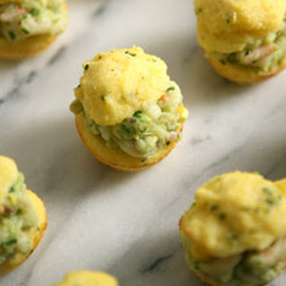 Cornbread Muffins with Baby Shrimp Salad