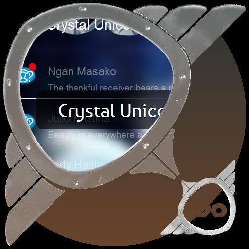 个人化のクリスタルユニコーン GO SMS LOGO-記事Game