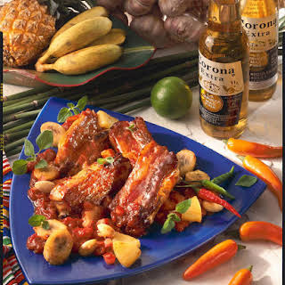 Spicy Ribs with Fruit Salsa.