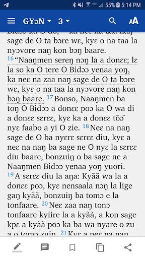 Dagaara New Testament screenshot 2