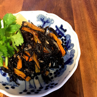 Warm salad with Hijiki Seaweed