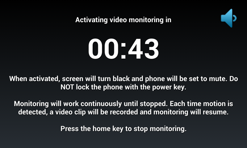 Motion Detector Video Recorder- screenshot