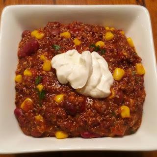Spicy Vegetarian Quinoa Chilli.