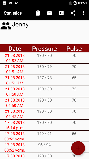 Blood pressure App screenshot 7