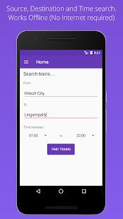 MMTS Train Timings Offline - náhled