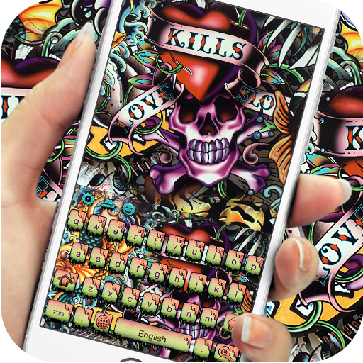 Street graffiti skull keyboard (app)