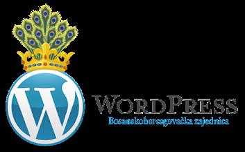 Photo: WordPress znak i kruna Kotromanića, banova i kraljeva Bosne potom.